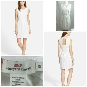 VINEYARD VINES White Eyelet Dress Women's Size 10